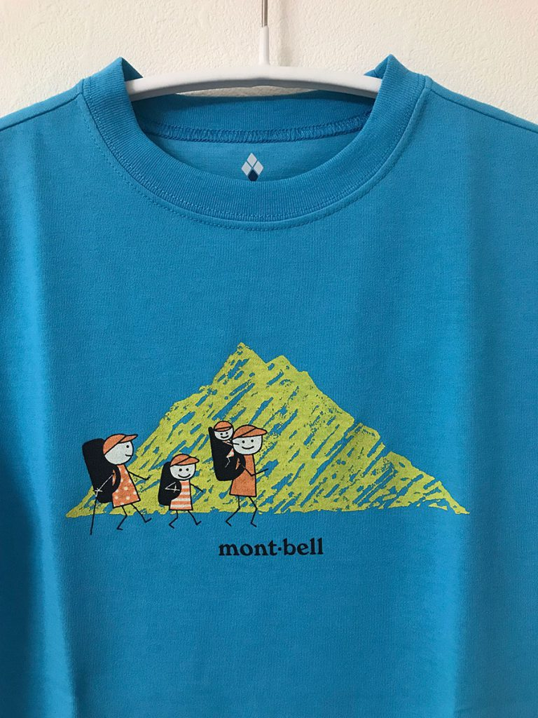 mont-bell Tshirt illustration